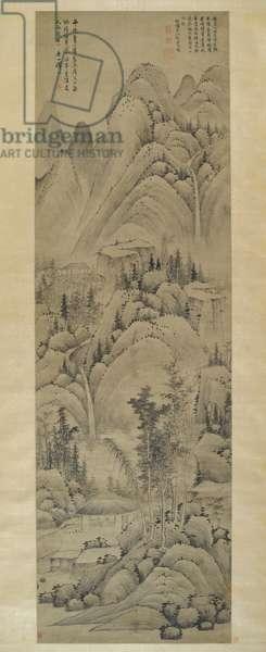 Landscape, Hanging Scroll, Ming Dynasty (1368-1644) (ink on paper)