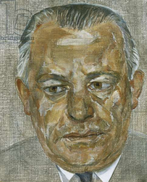 Portrait of a Man in a Grey Suit, 1959-60 (oil on canvas)