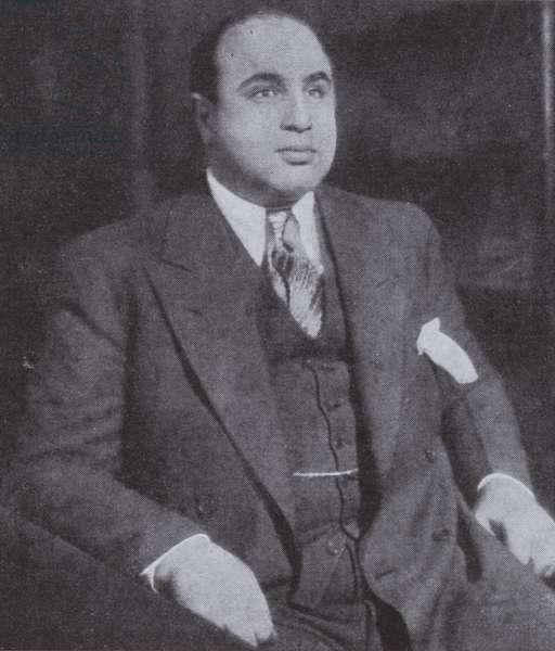 Al Capone, American gangster (b/w photo)