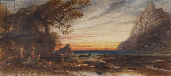 The Sailor's Return, 1859 (pencil, w/c & bodycolour on paper)
