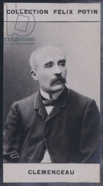 Georges Clemenceau (1841) (b/w photo)