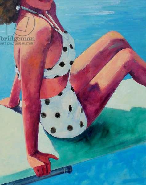 Polka Dot Swimsuit, 2014, (oil on canvas)