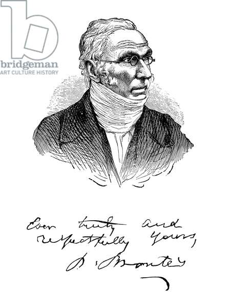 PATRICK BRONTË (1777-1861) Irish Anglican cleric and the father of the writers Charlotte, Emily, and Anne Brontë. Wood engraving, 19th century.