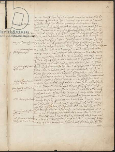 East India Company Charter, Page 19, Copy Letters Patent of Elizabeth I granting to the Earl of Cumberland and 215 others the power to form a corporate body to be called the