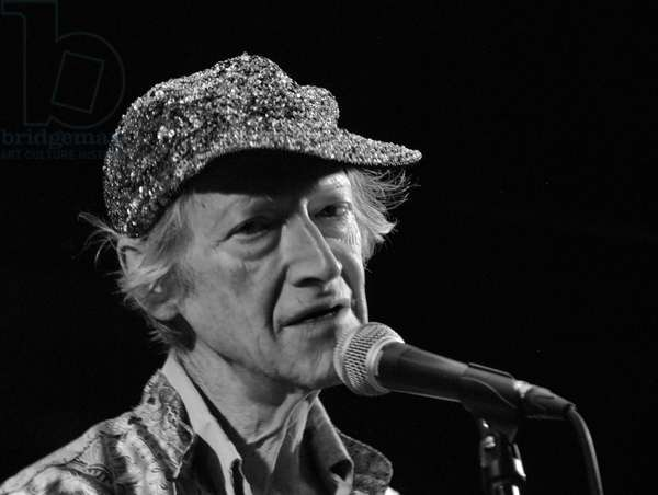 Michael Horovitz, Ronnie Scott's, London, 13th June 2011 (b/w photo)