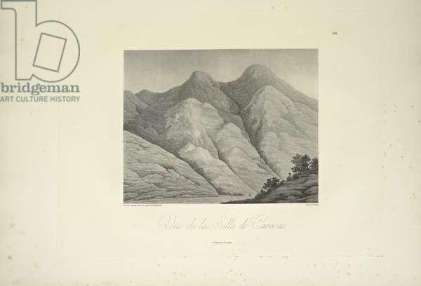 View of the Silla de Caracas, drawn by Marchais, engraved by Bouquet, illustration from 'Vues des Cordillères et Monumens des Peuples Indigènes de l'Amérique' by Alexander von Humboldt and Aime Bonpland, 1813 (engraving)