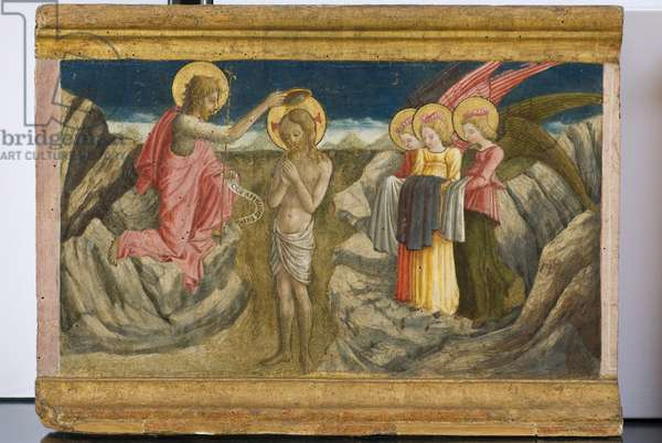 Baptism of Christ, detail of the polyptych, 1465-66 (tempera on panel)