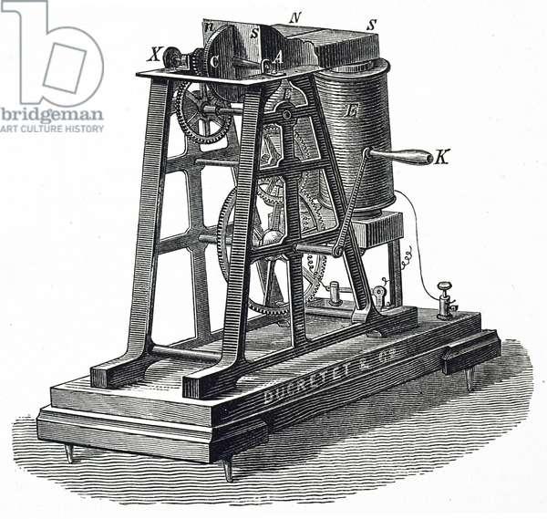 Léon Foucault's machine for producing a current