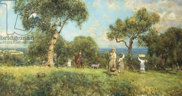 The Olive Harvest, by Francesco Paolo Michetti, 1875, oil on canvas