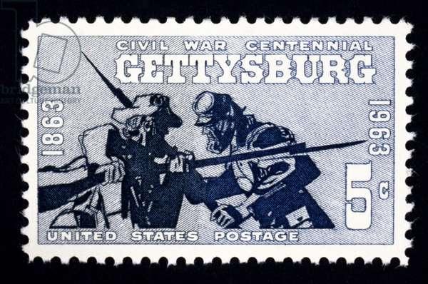 CIVIL WAR: GETTYSBURG Battle of Gettysburg centennial U.S. postage stamp, 1963.