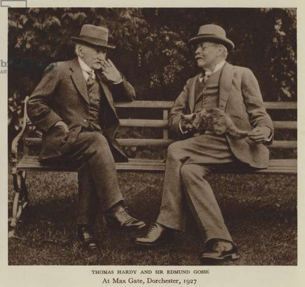 Thomas Hardy and Sir Edmund Gosse (b/w photo)