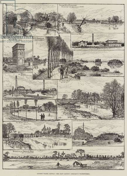 London Water Supply, the East London Company's Waterworks (engraving)