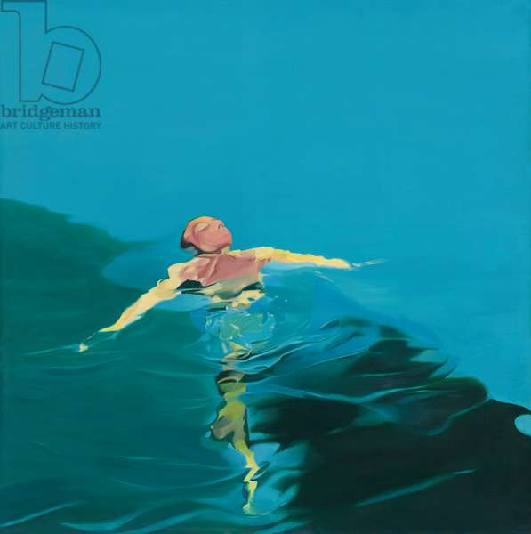 Floating figure II, 1970 (oil on canvas)