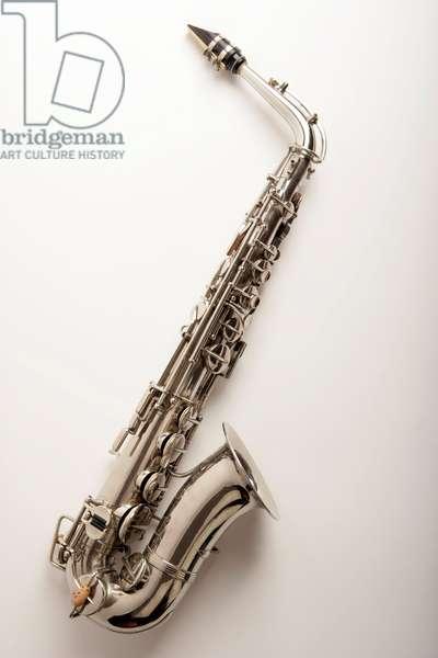 Alto saxophone with silver