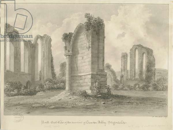 Croxden Abbey: sepia drawing, 1839 (drawing)