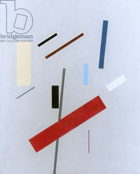 Composition with red band, c.1975 (colour litho)