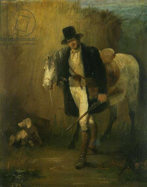 Lord Ellesmere, and his pony, Jack (oil on canvas attached to board)