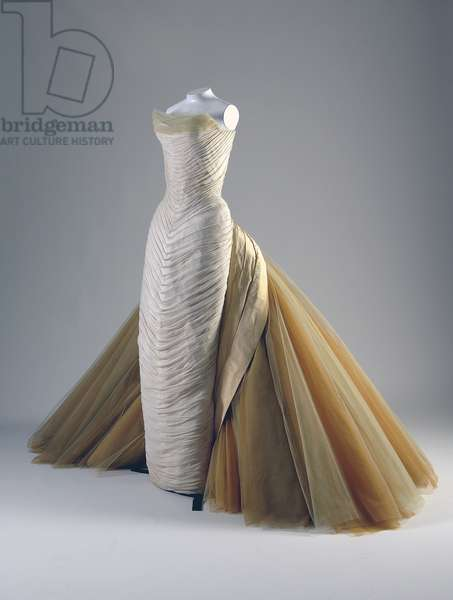 Evening dress, Butterfly, 1954 (front oblique view), Silk chiffon, silk faille, DuPont nylon tule, Charles James, U.S.A.