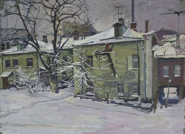Moscow Houses - Perunovski Pereulok, 1968 (gouache on paper)