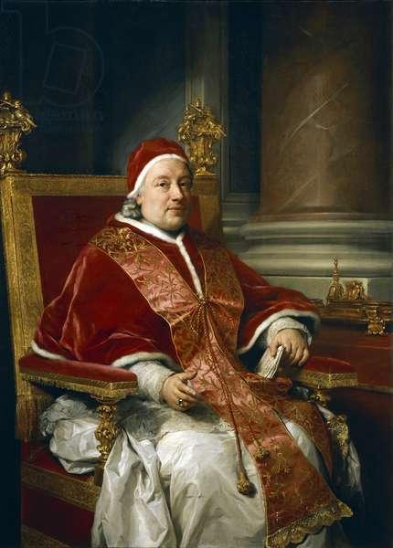 Portrait of Pope Clement xIII Rezzonico, by Anton Raphael Mengs, 1758, oil on canvas, 1728-1779, 115x1115 cm