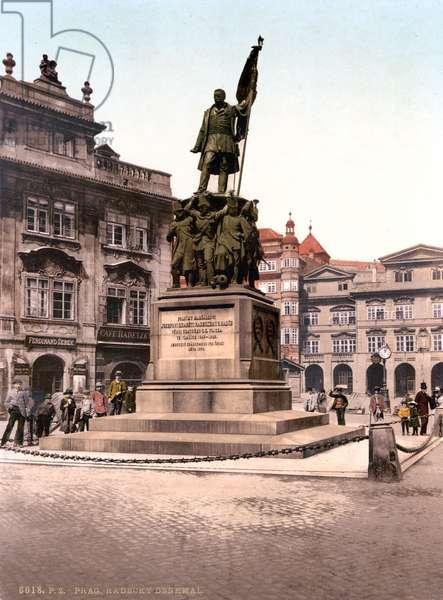 Prague, Joseph Radetzky Memorial, Bohemia, Austro-Hungary, photochrom, c.1900