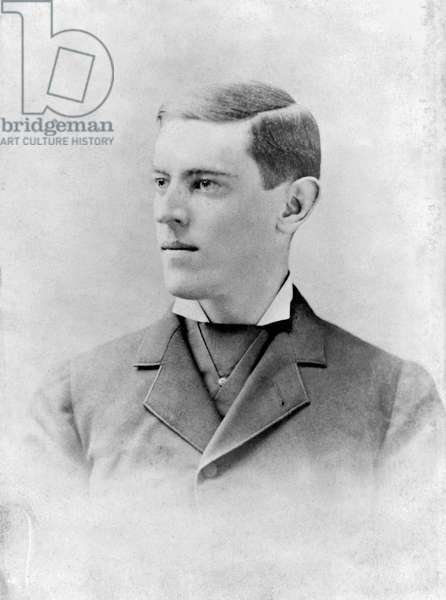 WOODROW WILSON (1856-1924) 28th President of the United States. Photographed as a senior at Princeton University, 1879.