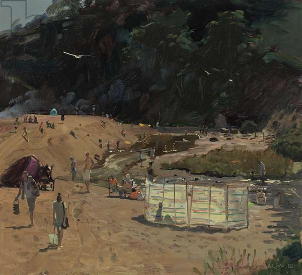 Blackpool Sands, The River, End of a Day, 2012 (oil on board)