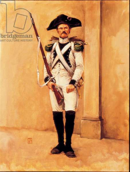 Le Voltigeur: 14th Line Infantry, White Uniform 1806, 1983 (oil on linen)