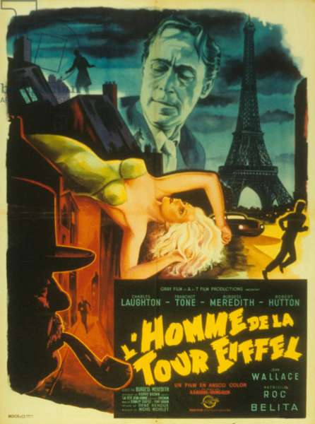 L'homme de la tour eiffel (Man on the Eiffel Tower) de BurgessMeredith et IrvingAllen, 1949