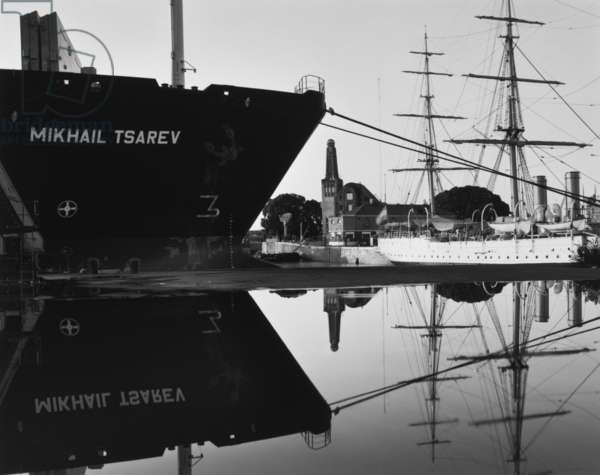Big Ship, Yacht Club Argentino and the Frigate Libertad, Port of Buenos Aires, 1993 (gelatin silver print)