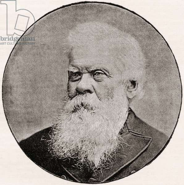 Sir Henry Parkes, 1815 - 1896.  7th Premier of New South Wales, regarded as the Father of the Australian Federation.  From The Review of Reviews, published 1891