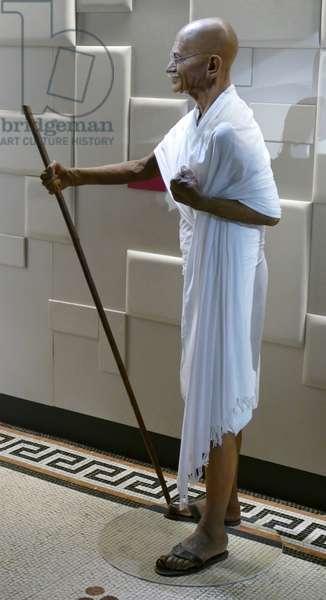 Waxwork statue of Mahatma Mohandas Karamchand Gandhi