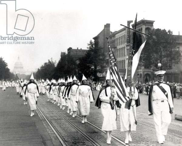 Klu Klux Klan March In Washington, D.C. 1928