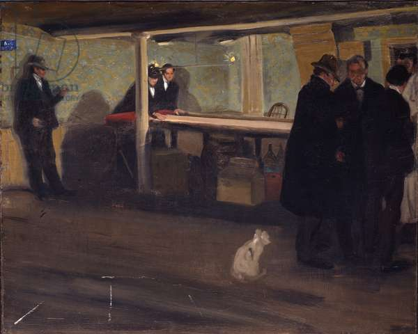 Evening at the Club, c.1902 (oil on canvas)