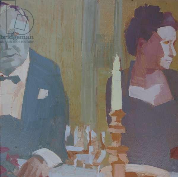 'Dinner 1', 2009, (oil on primed aluminium)