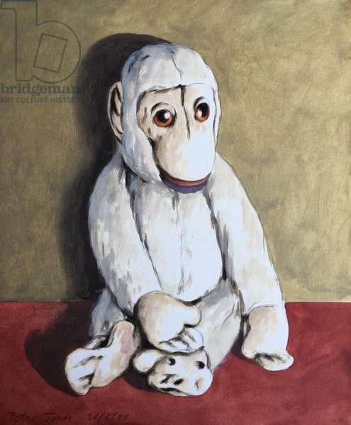 Bright White Monkey, 2006, (oil on canvas)