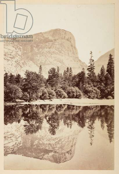 Mirror Lake, Yosemite Valley, 1865-70 (b/w photo)