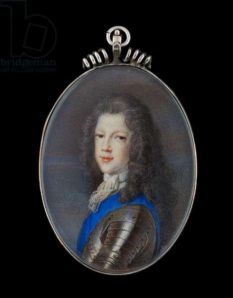 Portrait miniature of Prince James Francis Edward Stuart, the Old Pretender (gouache on vellum)