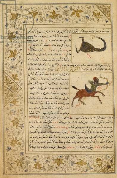 Scorpio and Sagittarius. Illustrations to a treatise on astrology