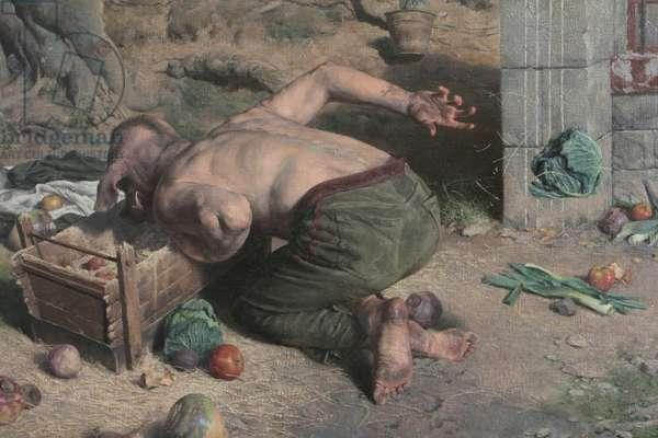 Odysseus on the Island of Circe, Pig Man Detail, 2017