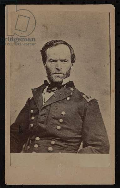 William Tecumseh Sherman carte-de-visite (b/w photo)