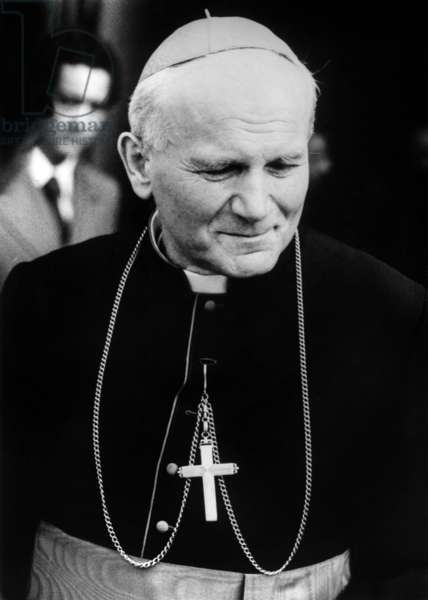 Cardinal Karol Wojtyla, Cardinal From 1967 To 1978, Future Pope John Paul Ii, here in Poland (b/w photo)