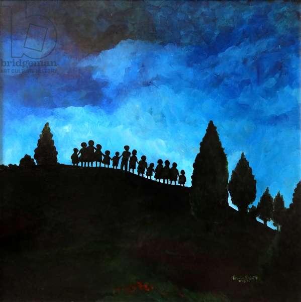 A New Dawn Rising, 2008, (Acrylic on masonite)