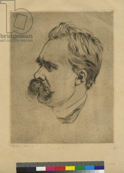 Portrait of Friedrich Nietzsche, 1911 (ink on paper)