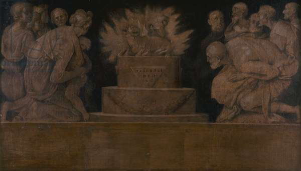Scene from Sacrifice, by Jacopo Carucci known as Pontormo, c. 1545, 16th Century, tempera on canvas, 85 x 148 cm