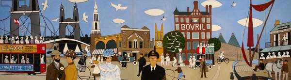 Old Hammersmith, 1980 (oil on board)