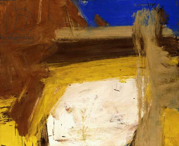 Duck Pond, 1958 (oil on paper)