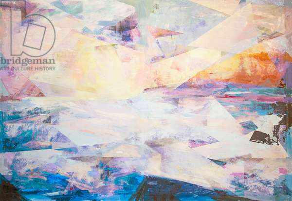 Adriatic Seascape; 2017 (Mixed Media on Wood Panel)