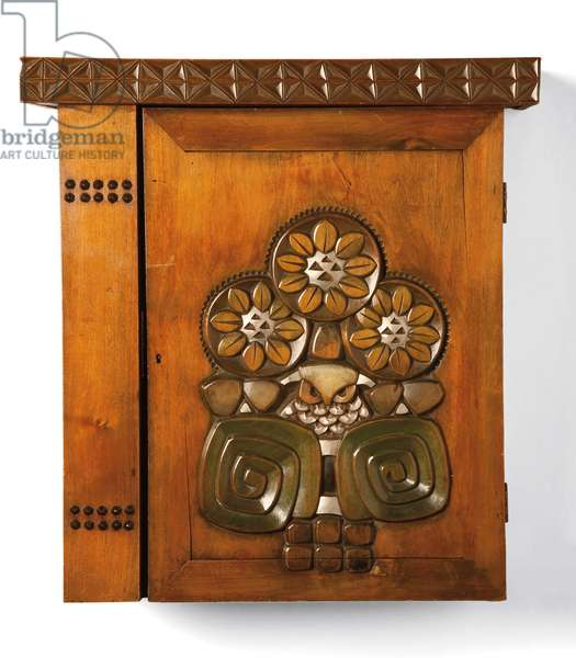 A birchwood cupboard made by the Talashkino workshops, c.1905 (birchwood)