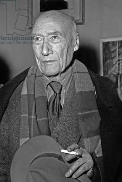 French writer  Andre Gide (1869-1951) on october 25, 1949 (photo)